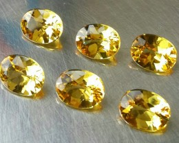 9.40 CTS DAZZLING TOP NATURAL YELLOW BERYL OVAL CUT 6 PCS