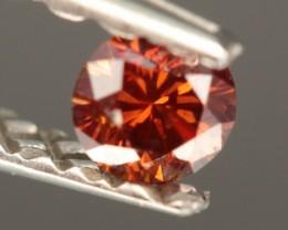 0.13 CT DIAMOND BROWNISH RED  - VVS2