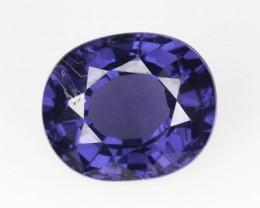 1.26 Cts Natural Purple Blue Spinel Oval Cut Burmese Gem