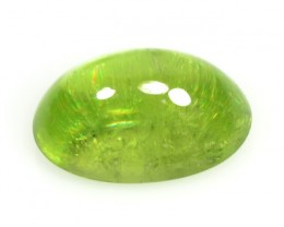 5.43 Cts Natural Olive Green Sphene Cabochon Russian Gem