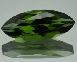 1.32 Cts Natural Green Tourmaline Marquise Cut Mozambique Gem