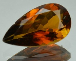 1.04 Cts Natural Brown Tourmaline Pear Cut Mozambique Gem