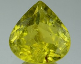 Natural Canary Yellow Tourmaline Pear Cut Mozambique Gem