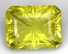 16.75 Cts Natural Lemon Yellow Quartz Fancy Cut Brazil Gem