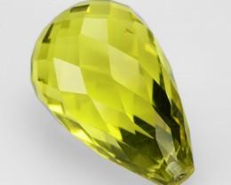 15.93 Cts Natural Lemon Yellow Quartz Briolette Drops Brazil Gem