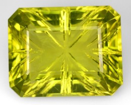 21.71 Cts Natural Lemon Yellow Quartz Fancy Cut Brazil Gem