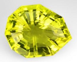 17.83 Cts Natural Lemon Yellow Quartz Fancy Cut Brazil Gem