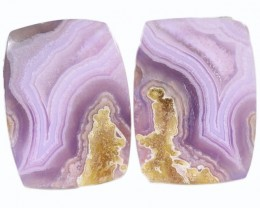 8.75 CTS AGATE PAIR NATURAL PURPLE/MAUVE BRAZIL [MGW5306]