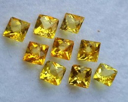 3.15 CTS DAZZLING TOP NATURAL GOLDEN YELLOW BERYL SQARE-CUT NR!!!