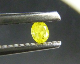 0.12ct Fancy Vivid Yellow Diamond , 100% Natural Untreated