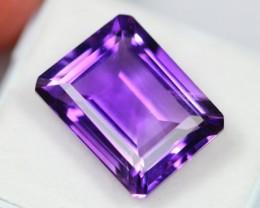 Lot 04 ~ 13.28Ct Natural Emerald Cut Purple Amethyst