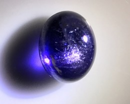 BEAUTIFUL IOLITE CABOCHON WITH SCHILLER FLECK EFFECT NO RESERVE
