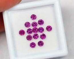 NR Lot 12 ~ 2.07Ct Natural 3.0mm Purple Rhodolite Garnet
