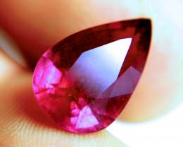 8.57 Carat Fiery Ruby Pear - Superb