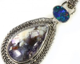 40.35 CTS TIFFANY PENDANT  AND OPAL -FACTORY DIRECT [SJ4627]