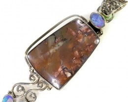57.00 CTS TIFFANY PENDANT  AND OPAL -FACTORY DIRECT [SJ4629]