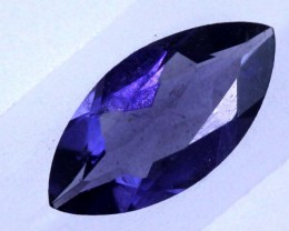 0.7 CTS TANZANITE FACETED BLUISH VIOLET  RNG-441