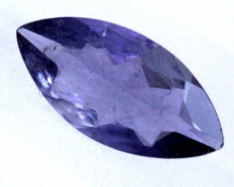 0.6 CTS TANZANITE FACETED BLUISH VIOLET  RNG-442