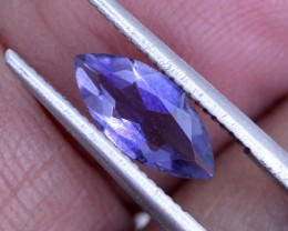 0.65 CTS TANZANITE FACETED BLUISH VIOLET  RNG-444