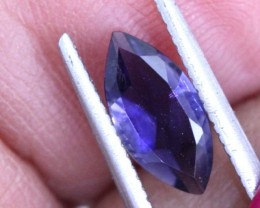 0.6 CTS TANZANITE FACETED BLUISH VIOLET  RNG-445