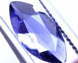 0.55 CTS TANZANITE FACETED BLUISH VIOLET  RNG-447