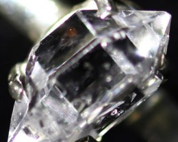 7 RING SIZE HERKIMER DIAMOND NATURAL-SILVER [SJ4639]