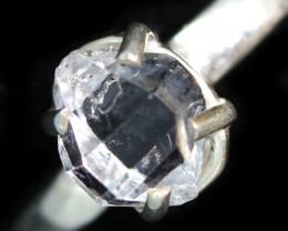 6 RING SIZE HERKIMER DIAMOND NATURAL-SILVER [SJ4641]