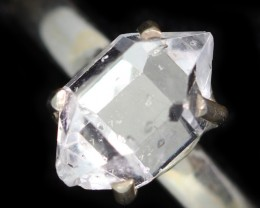 6 RING SIZE HERKIMER DIAMOND NATURAL-SILVER [SJ4644]