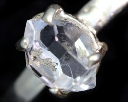 6 RING SIZE HERKIMER DIAMOND NATURAL-SILVER [SJ4646]