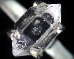7 RING SIZE HERKIMER DIAMOND NATURAL-SILVER [SJ4647]