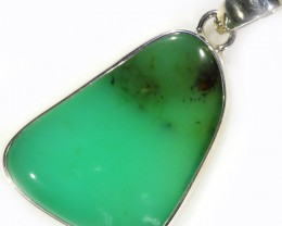 46.90 CTS LARGE CHRYSOPRASE SILVER PENDANT-FACTORY DIRECT [SJ4651]
