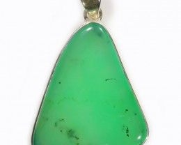 97.10 CTS LARGE CHRYSOPRASE SILVER PENDANT-FACTORY DIRECT [SJ4656]