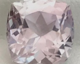 Silvery Colorless 5.50ct Cushion Cut Kunzite, VVS, Pakistan