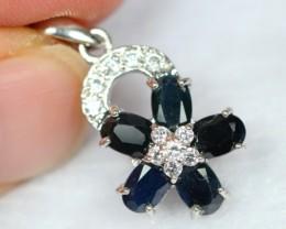 Lot 19 ~ 14.8Ct Natural Blue Sapphire 925 Silver Pendant