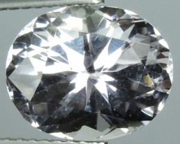 5.15 CTS SUPERIOR! TOP-OVAL-CUT-NATURAL-WHITE-KUNZAITE- GENUINE