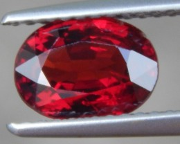 1.51ct Burma Red Spinel, 100% Untreated,