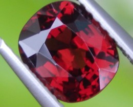 1.62ct Burma Red Spinel, 100% Untreated,