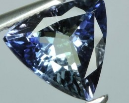 NATURAL TANZANITE TOP LUSTER TRILLION GREEN-BLUE NR!!!