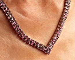 183.0 Tcw. Tourmaline Silver Gold Plated Necklace - Gorgeous