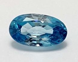 2.10 Crt Top Blue zircon  Stunning  Gemstone   Jl129