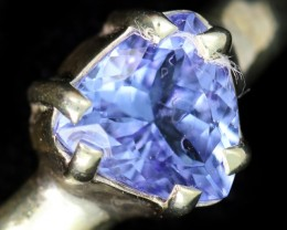7 RING SIZE TANZANITE SILVER RING [SJ4679]