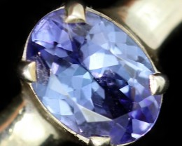 8 RING SIZE TANZANITE SILVER RING [SJ4680]