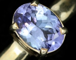 8 RING SIZE TANZANITE SILVER RING [SJ4682]