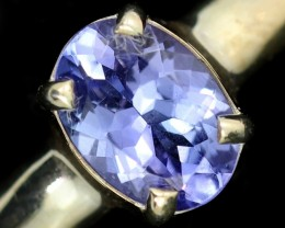 8 RING SIZE TANZANITE SILVER RING [SJ4683]6