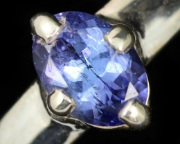 9 RING SIZE TANZANITE SILVER RING [SJ4685]