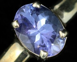 9 RING SIZE TANZANITE SILVER RING [SJ4686]