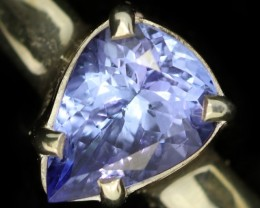 8 RING SIZE TANZANITE SILVER RING [SJ4689]