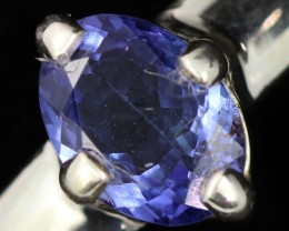 10 RING SIZE TANZANITE SILVER RING [SJ4691]