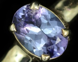 8 RING SIZE TANZANITE SILVER RING [SJ4695]