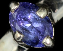 10.5 RING SIZE TANZANITE SILVER RING [SJ4698]